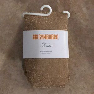 Gymboree sparkly gold tights 12-24 Months item#132